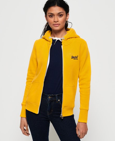 Superdry Sudadera con capucha y cremallera Orange Label