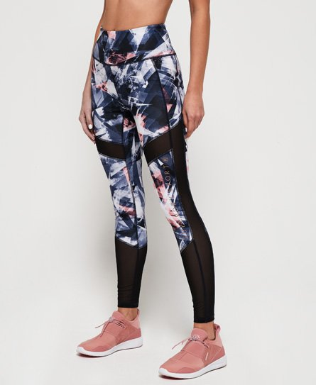 Superdry Leggings con paneles de malla Active Studio