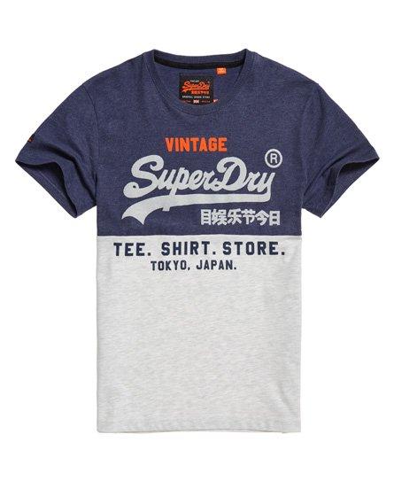 Superdry Shirt Shop Tri Panel -t-paita - Miehet T-paidat 3179e7bd92