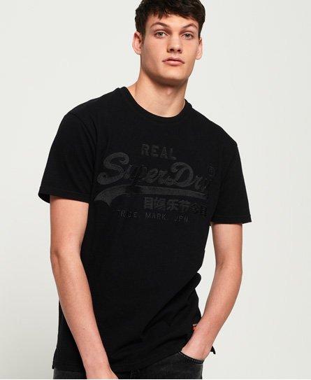 Superdry Camiseta de corte cuadrado con aplicación decorativa y logo vint
