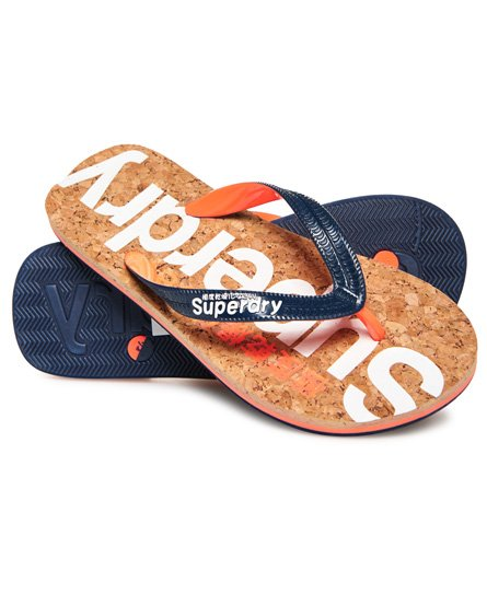 Superdry Tongs en liège à paillettes