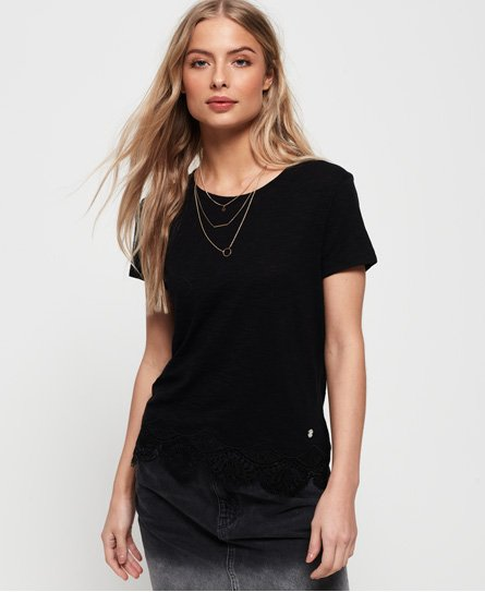 Superdry Morocco Lace Hem T-Shirt
