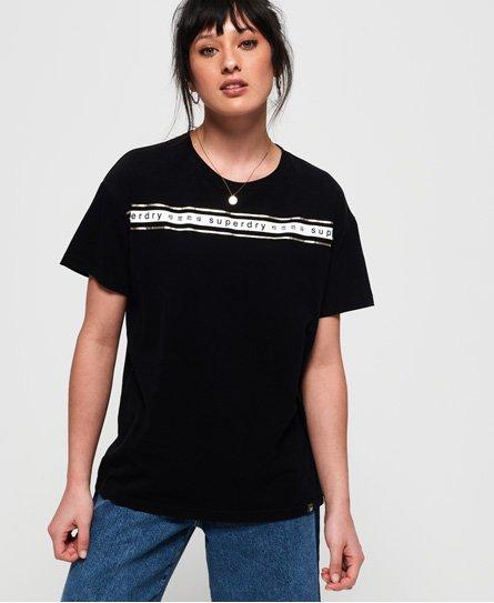 180fd7b1 Superdry Minimal Logo Tape Oversized Portland T-Shirt - Women's T Shirts