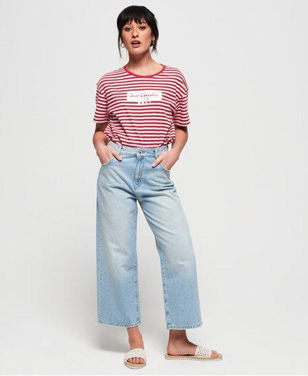 Superdry Minimal Logo Stripe Oversized Portland T-Shirt