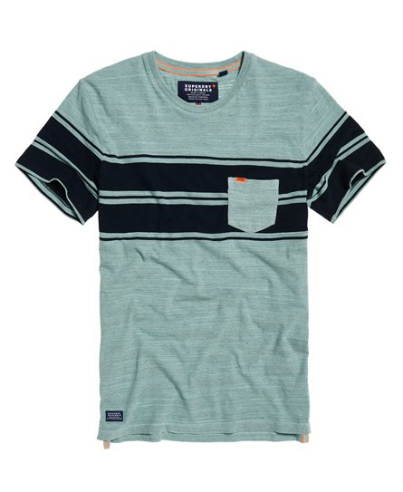 afe49f8344a Dry Originals Short Sleeve Stripe Pocket T-Shirt