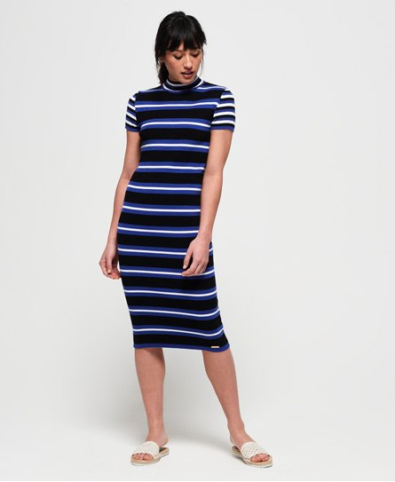 Superdry Sporty Striped Ribbed-strikkekjole