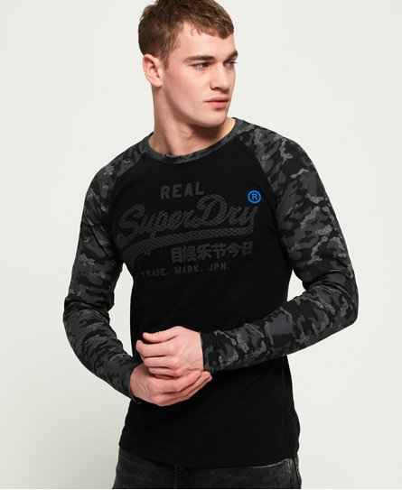 Superdry Vintage Logo Monochrome Long Sleeve T-Shirt