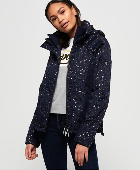 Superdry Arctic Print Pop Zip SD-Windcheater vindjacka med huva