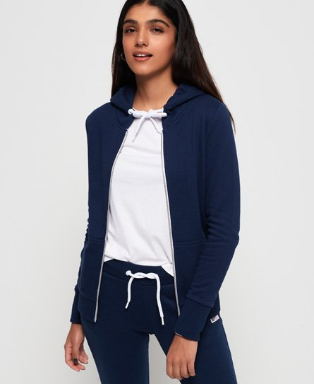 Superdry LA Athletic huvtröja med dragkedja
