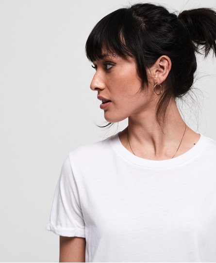 Superdry Premium T-shirt i modal-materialer med rund hals