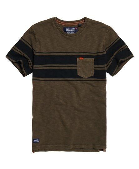 6f14707b1d2 Dry Originals Short Sleeve Stripe Pocket T-Shirt