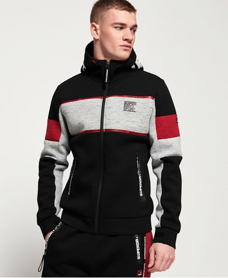 Superdry Felpa con cappuccio e zip Gym Tech Stretch Block