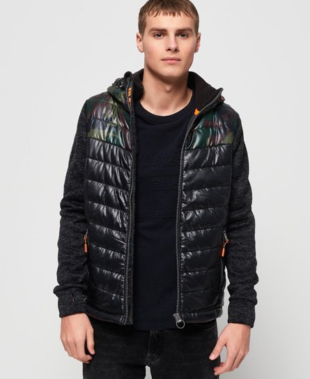 Superdry Storm Hybrid Chevron Colour Block Zip Hoodie