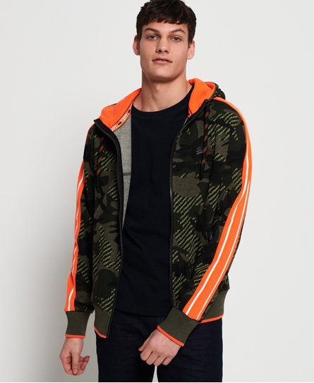 Superdry Sweat à capuche et empiècements zippé Urban Orange Label