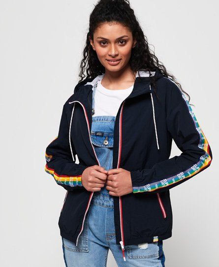 Superdry SD-Windbreaker Jacke mit Regenbogen-Design