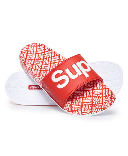 Superdry Beach badslippers met all-overprint