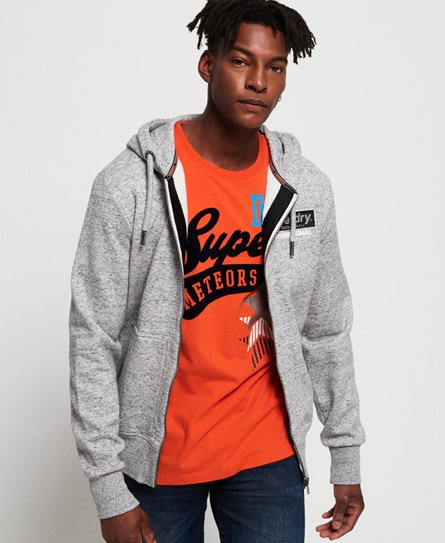 Superdry International Monochrome hoodie met rits