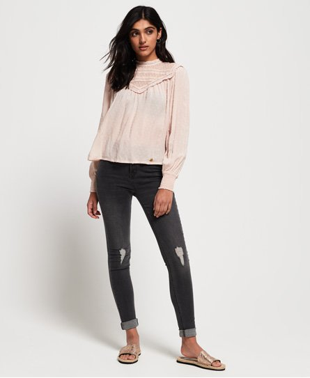 Superdry Jeans skinny taille haute Sophia
