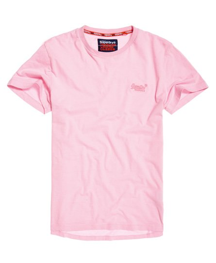 Superdry T-shirt orange Label Lite