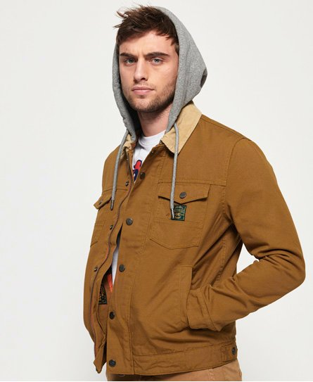 Superdry Hacienda Canvas truckerjacka med huva