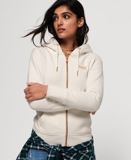 Superdry Sweat à capuche zippé Orange Label Elite