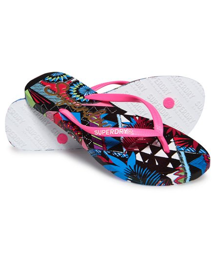 Superdry Super Sleek All Over Print Flip Flops