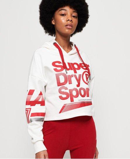 Superdry LA Sporting Crop-hettegenser