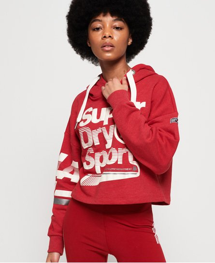 Superdry LA Sporting Crop Hoodie