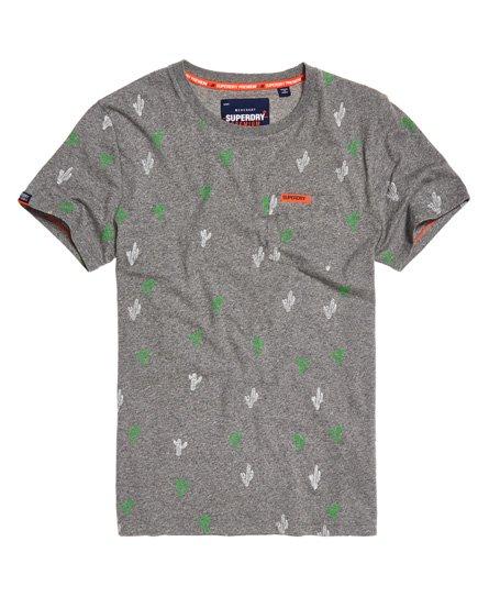 f21563f05ebb Superdry Κοντομάνικο T-Shirt Lite με Τύπωμα All Over γκρι Vintage Grit