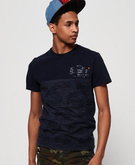 Superdry T-shirt à empiècement et logo vintage fluo