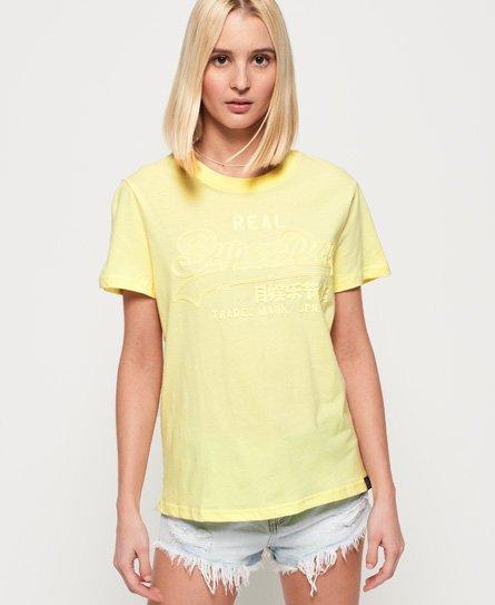Superdry T-shirt ton sur ton à logo Vintage