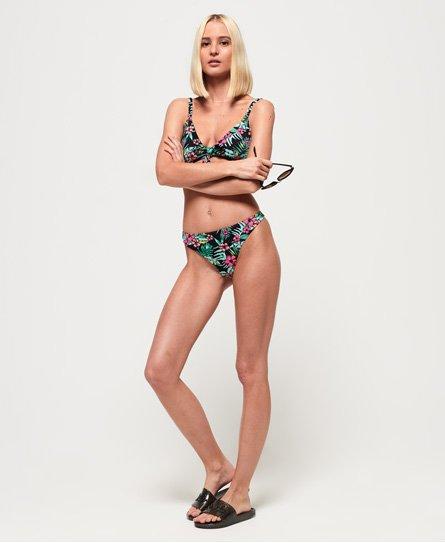 08c0a0ac2f Womens - Felicity Tie Crop Bikini Bottom in Black Aop