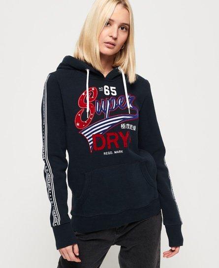 Superdry American Script Flock hoodie
