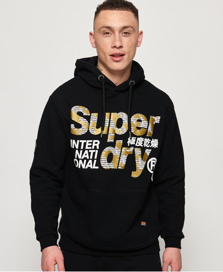 Superdry Übergroßes International Monochrome Hoodie  thumbnail 1
