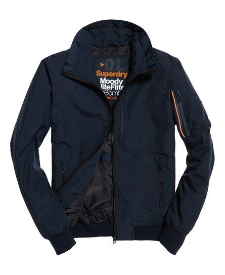 Blue Superdry Men/'s Moody Light Bomber Jacket