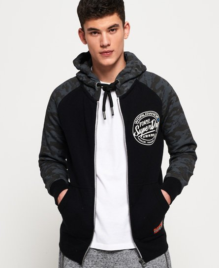 Superdry Ticket Type Monochrome Zip Hoodie