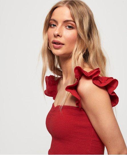 049aa04f1a5b56 Superdry Adrianna Smocked jurk - Jurken voor Dames
