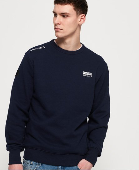 Superdry Black Label Edition Sweatshirt mit Rundhalsausschnitt