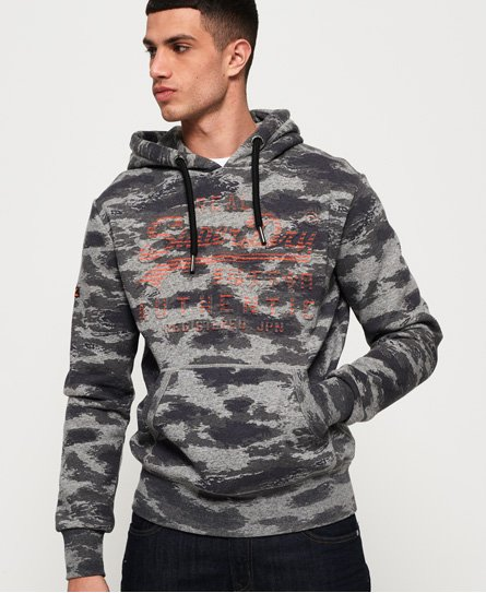 Superdry Sweat à capuche camouflage avec logo vintage Authentic
