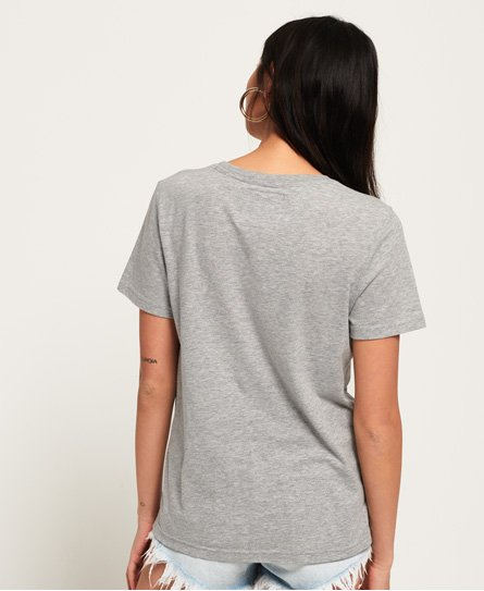 10175c7b Womens - Vintage Logo Boutique Embroidery T-Shirt in Grey Marl ...