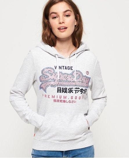 Superdry Premium Goods Jumbo Rhinestone Lightweight hoodie