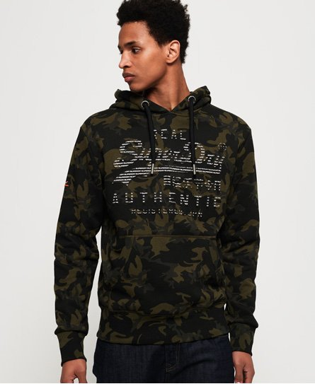 Superdry Vintage Logo Authentic Hoodie mit Tarnmuster