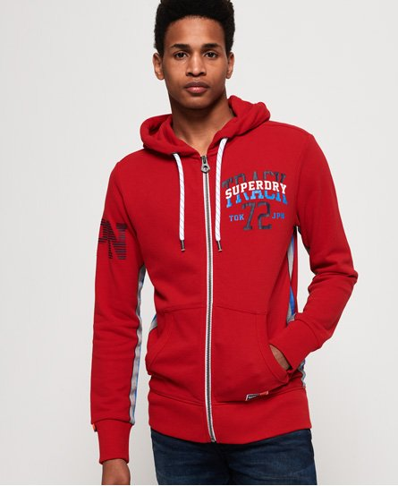 Superdry Sweat à capuche zippé Track & Field Lite
