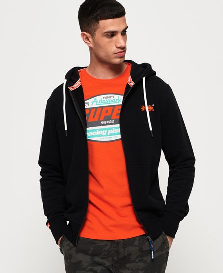Superdry Orange Label Lite-hettegenser med glidelås thumbnail 1
