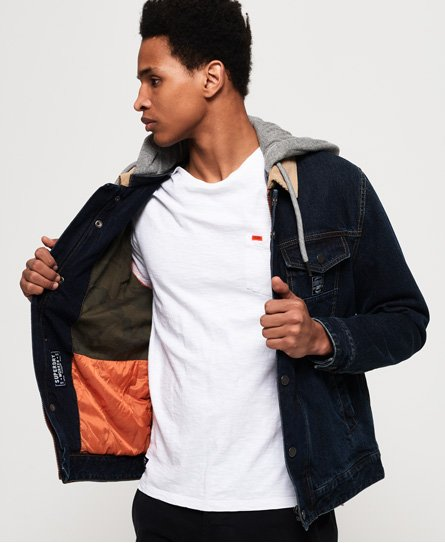 Superdry Hooded Hacienda Trucker Jacket thumbnail 1