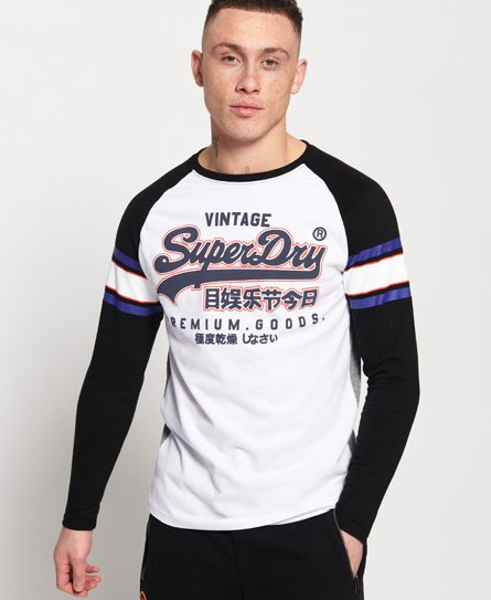 Superdry T-shirt con maniche raglan Premium Goods Outline