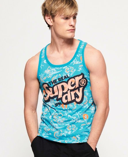Superdry Real Japan All Over Print Mid Weight Vest