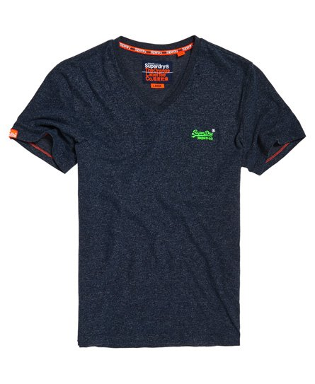 Orange Label Vintage geborduurd T-shirt met V-hals