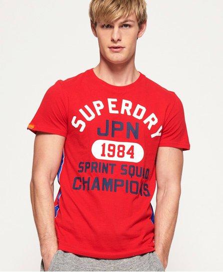 Superdry Leichtes Track & Field T-Shirt mit Streifenband