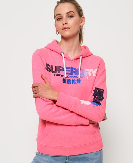 Superdry Sweat à capuche City Nights ombré floqué